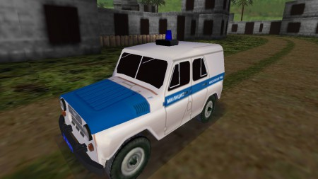 UAZ 469 Russian Police