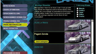 Need For Speed Carbon: Downloads/Addons/Mods - Tools - NFSC