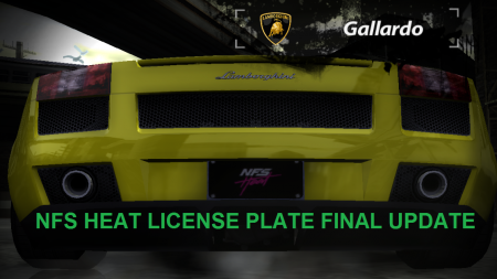 Simple NFS Heat license plate for NFSMW
