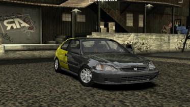 Honda Civic Grey&Yellow Edition