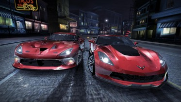 Chevrolet Corvette C7 Z06 in the streets with other cars