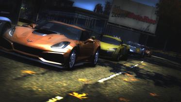 Chevrolet Corvette ZR1 & other cars in a different cutscene