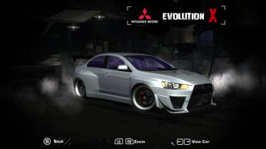 Mitsubishi Lancer evolution X Vinyls