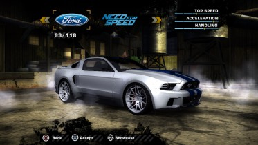 Ford Custom Mustang NFS Movie Edition (Added Car)