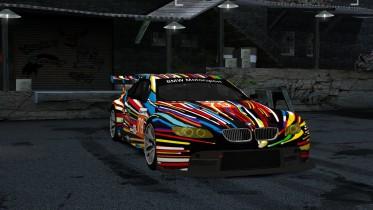 2010 BMW M3 GT2 E92 #79 Jeff Koons Art