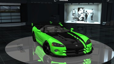 2010 Dodge Viper ACR Snake Skin Green Special Edition