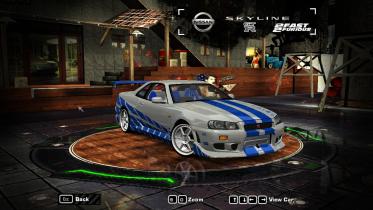 Paul Walker's 1999 Nissan Skyline GT-R R34