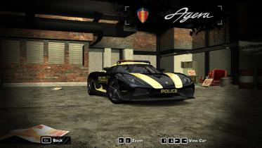 2010 Koenigsegg Agera  Gold police