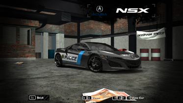 2017 Acura NSX (NFS World police) (Improved)