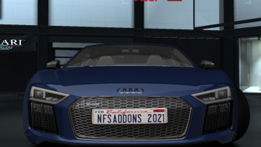 NFSAddons 2021 Plate on Audi R8 V10