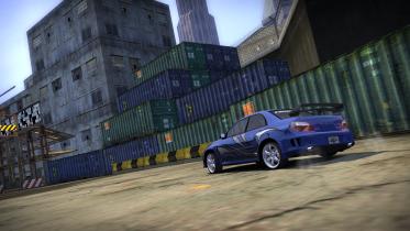 Subaru İmpreza with cool shot