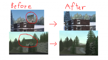 Bug fixed tracks (e.g. upside-down trees)